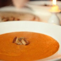 Rote Linsensuppe mit Kokos {Red lentil soup with coconut}